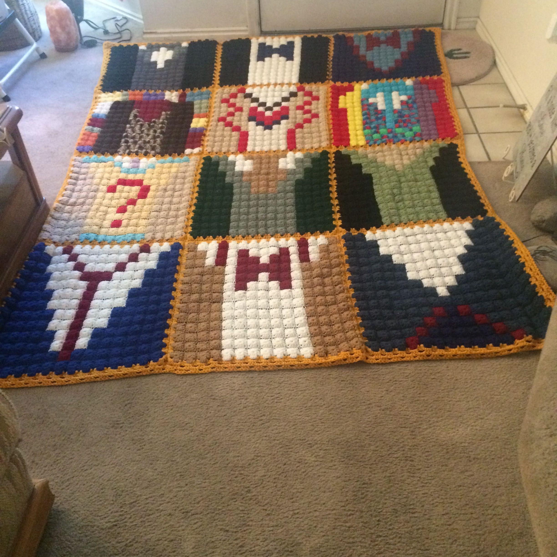 Increíble Crochet Granny Ondulación Patrón Afghan Imágenes - Ideas ...