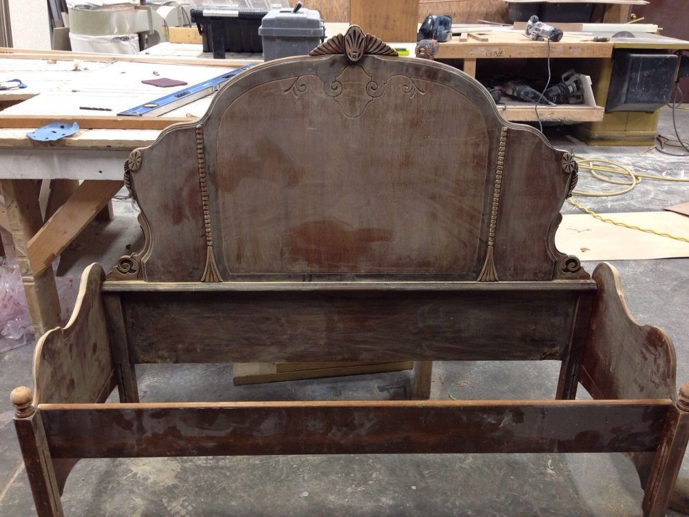 I find quite a few full size headboards when I'm looking for antique  furniture. It's not a very popular frame size anymore but some of them are  just too ... - Headboard To Bench Pinterest Bench, Full Size Headboard And