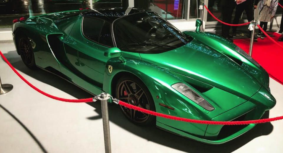 Someone In The Uk Has Created An Emerald Green Ferrari Enzo Carscoops Ferrari Enzo Ferrari British Racing Green
