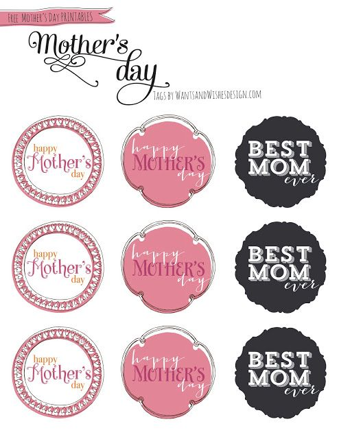 personalize your gift wrapping with stickers mums day mother 39 s day printables diy happy. Black Bedroom Furniture Sets. Home Design Ideas