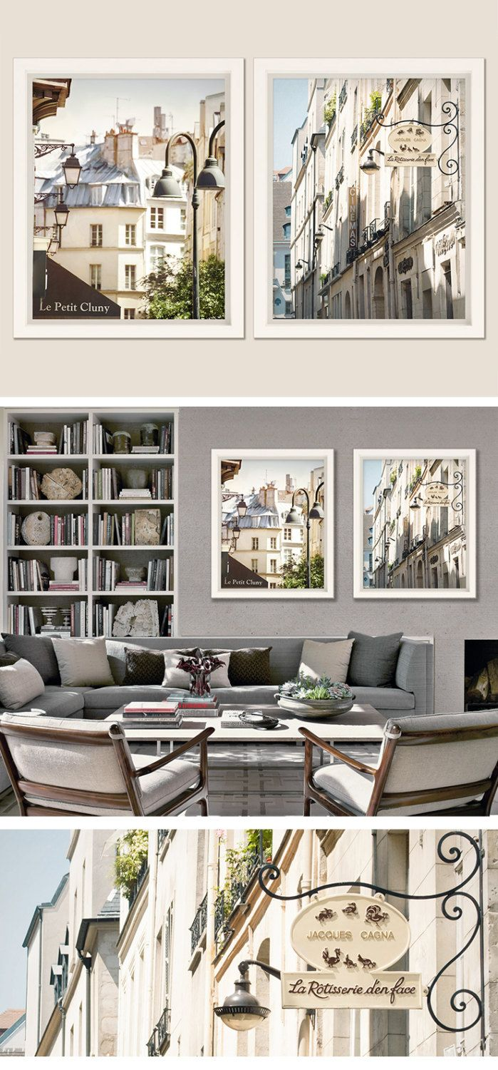 Paris Wall Art Set Of 2 Architecture Photography Prints Large Etsy Large Wall Art Living Room Paris Wall Art Wall Art Sets