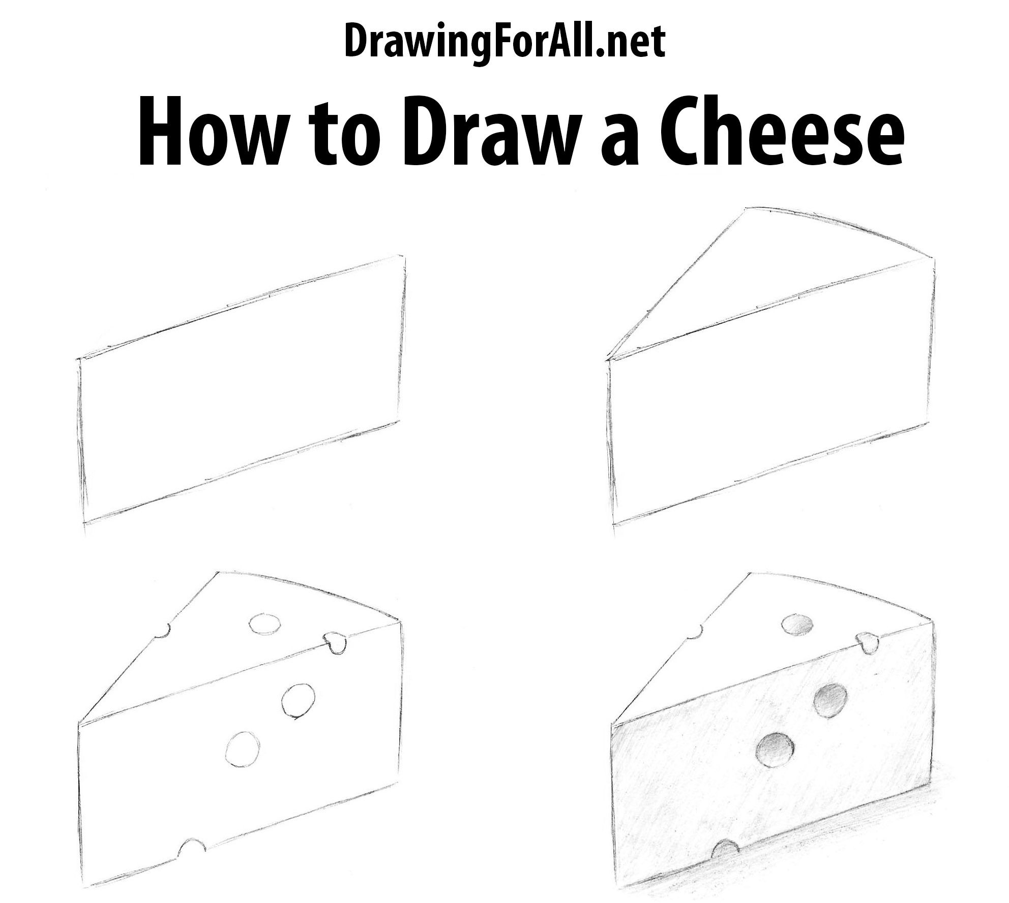 How To Draw A Cheese Cheese Drawing Cheese Doodle Best Cheese