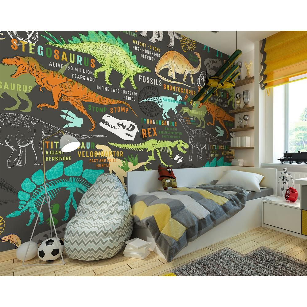 Brown Dinosaurs Wall Applique Wr50587 In 2020 Toddler Boy Room Themes Kids Interior Room Kids Bedrooms Colors