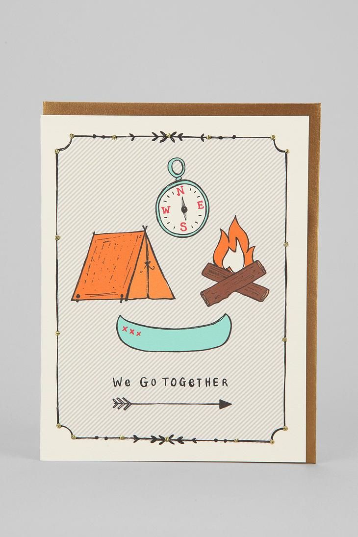 Natalie Eden Camping Card #urbanoutfitters