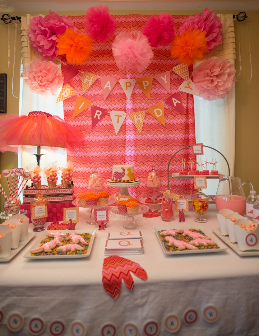 Girl Dinosaur Birthday Party from Honeybash; http//www