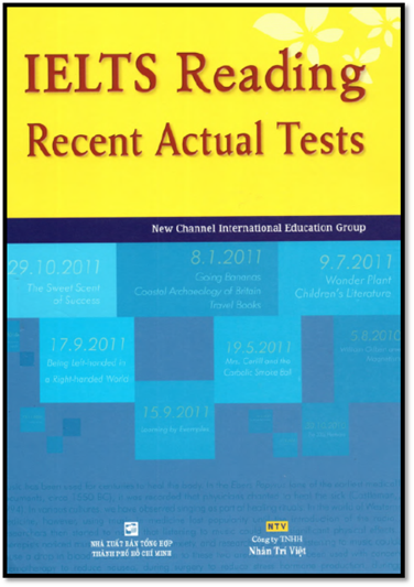 IELTS Reading Recent Actual Tests 2007-2011 + Answer Key | Sách Việt