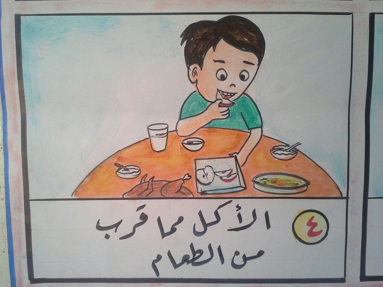 4 الاكل مما قرب من الطعام Islamic Kids Activities Activities For Kids School Activities