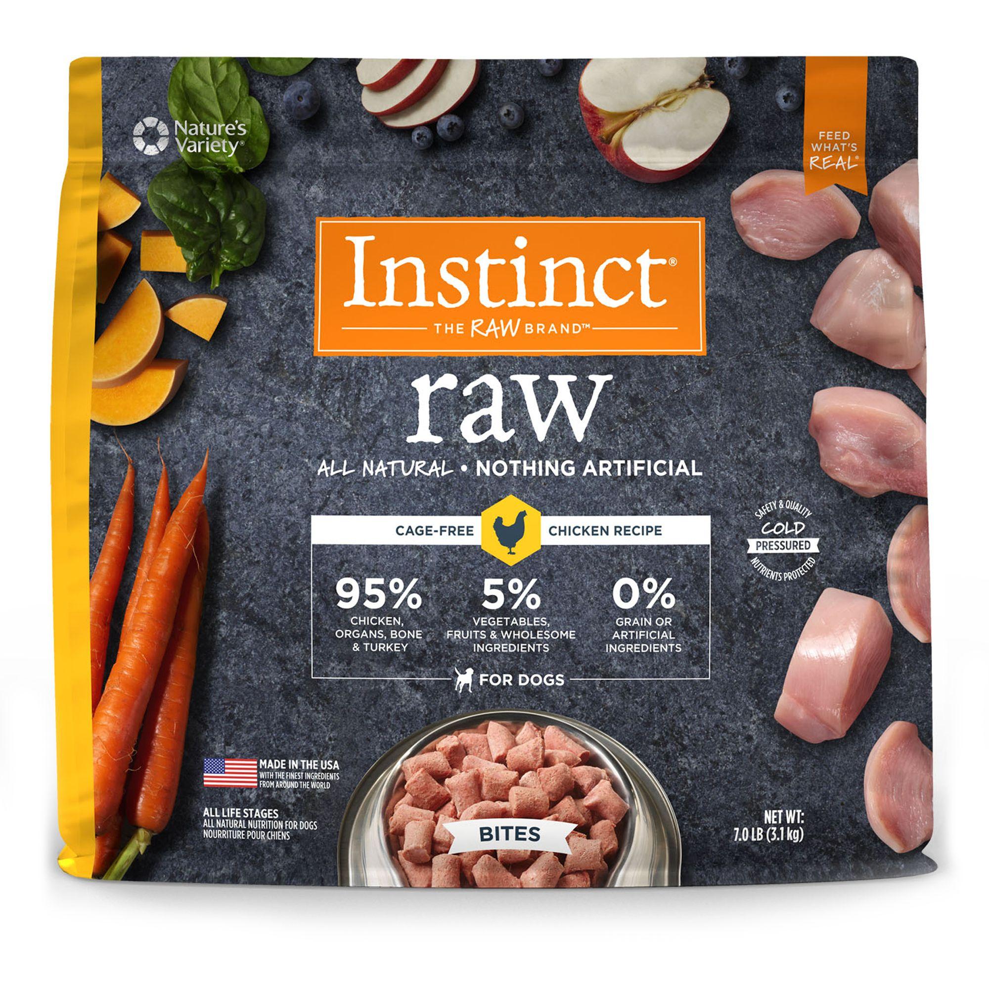 Nature S Variety Instinct Raw Bites Dog Food Natural Grain Free