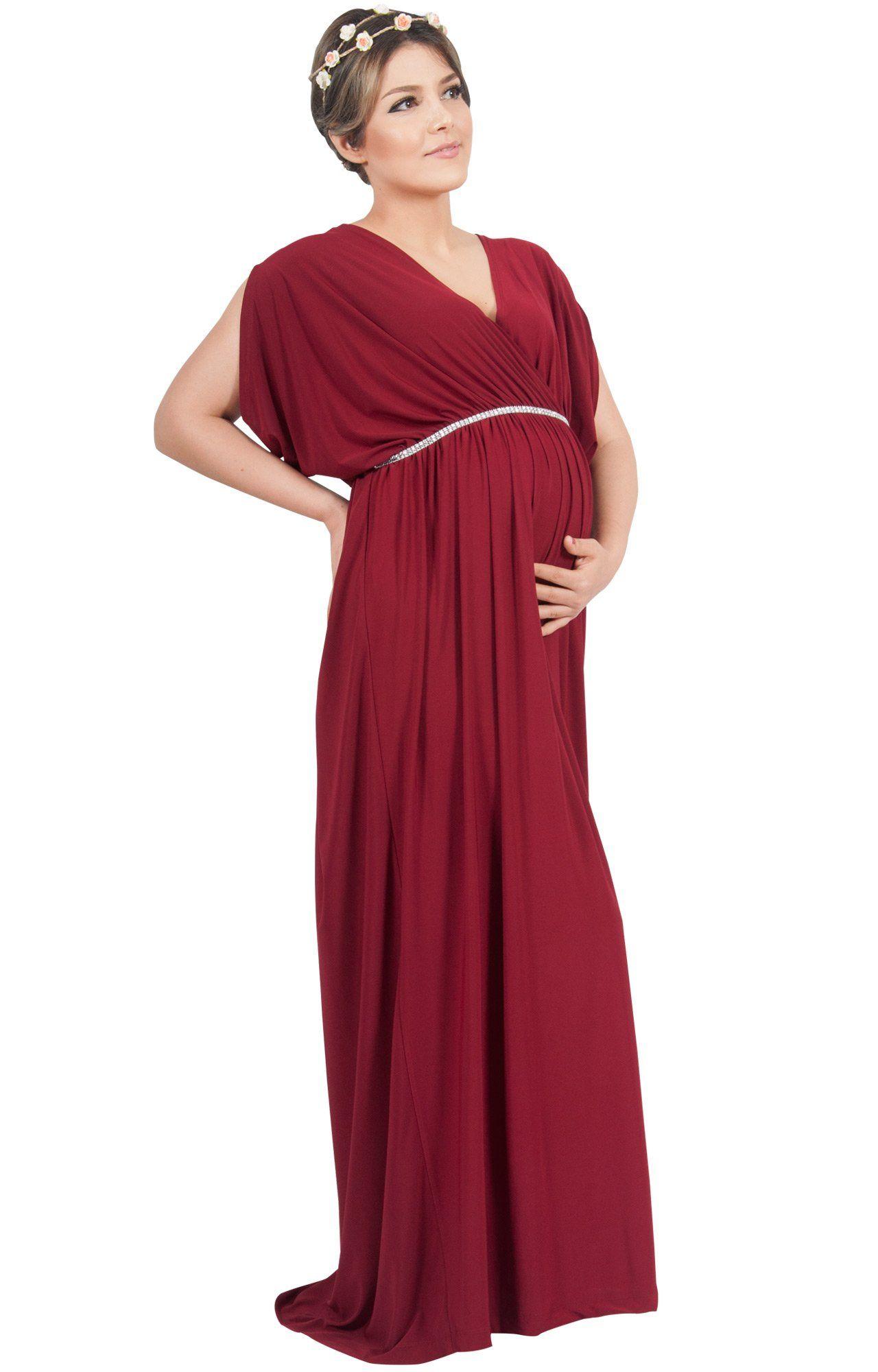 3781160ea8dda Maternity Styles - best maternity maxi dress : KOH KOH Plus Size Womens Long  Grecian Short