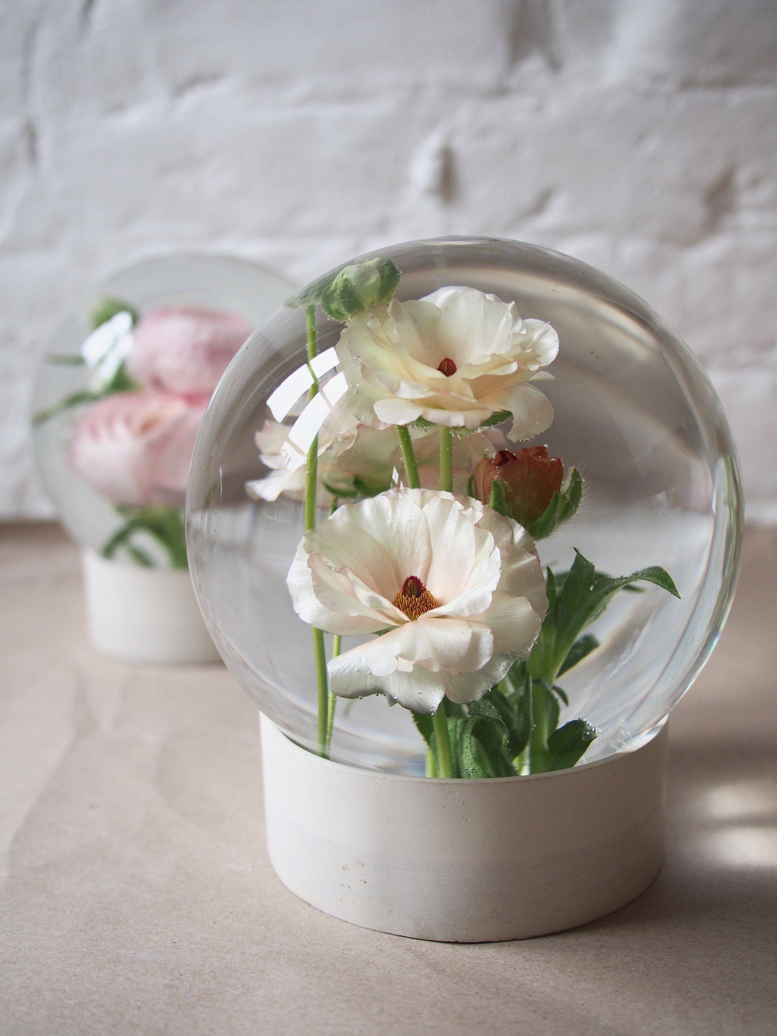 Rose Globe (With images)   Flower room, How to make water, How to make rose