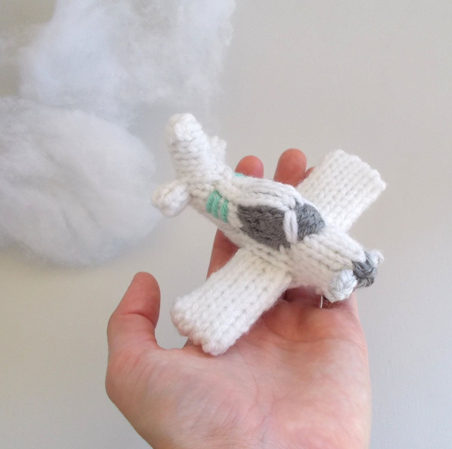 Miniature Single Engine Airplane Knitted Soft Toy ...
