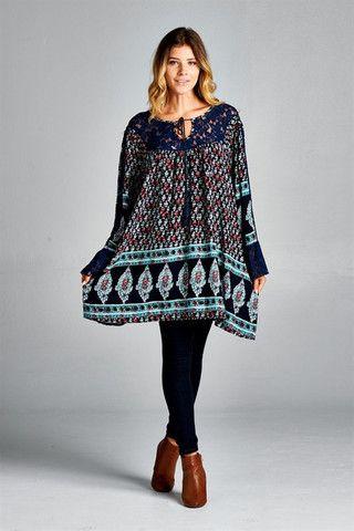Show Your Spirit Tunic - Navy Blue – Angel Heart Boutique - BEST WEBSITE FOR PLUS SIZE CLOTHING.Regular Sizes #plussize #boho #bohemianclothing #onlineboutique