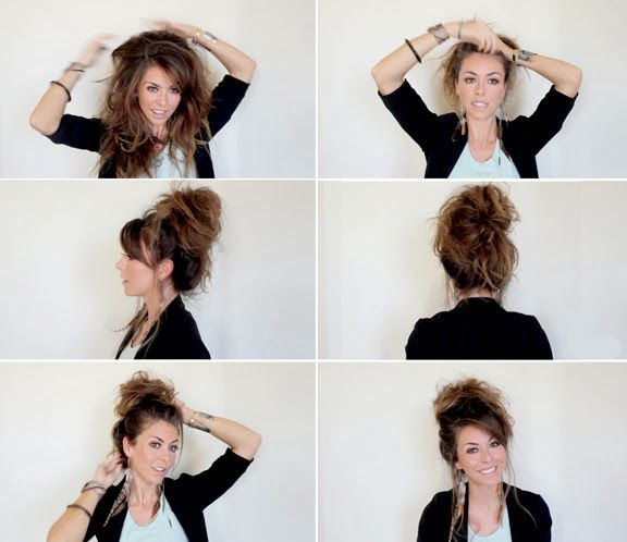 Coiffure rapide cheveux long soiree