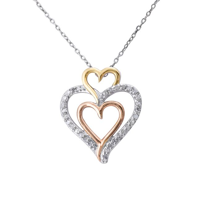 This attractive triple heart pendant necklace is expertly crafted of this attractive triple heart pendant necklace is expertly crafted of fine sterling silver this necklace aloadofball Images