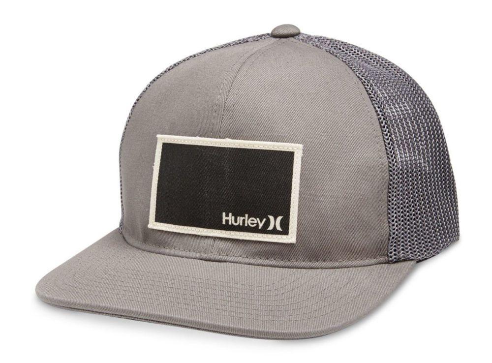 discount hurley surf skate sport verdone flexfit grey baseball cap trucker  hat s m new ec6f1 e2a6c 97f1d254db47