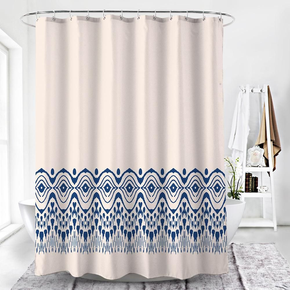 Liron Tufted Print Waterproof Shower Curtain Shower Curtain