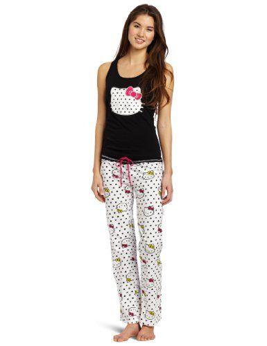 85646f032 Hello Kitty Women's Hk Heart Print Pajama Set « Clothing Impulse ...