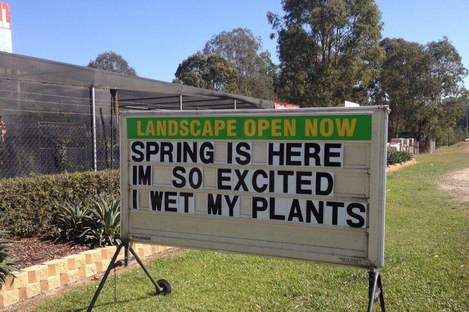 This nursery has jokes