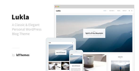 Lukla - A Responsive WordPress Blog Theme (Personal) - http ...