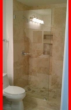 Just A Panel Frameless Shower Doors Custom Shower Custom