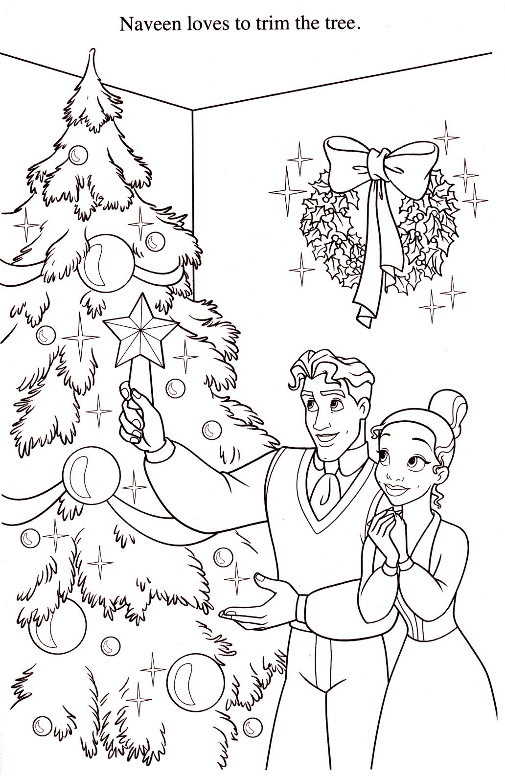 naveen and tiana chris tree decorating #tiana #christmas #
