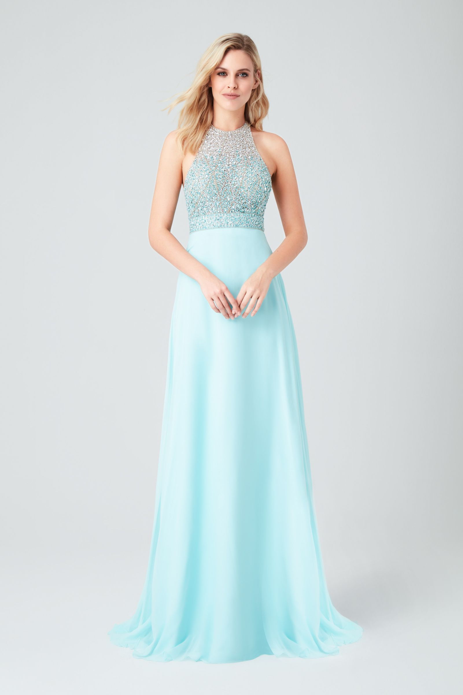 39065f7ede25d Açık Mavi Boyundan Bağlı Payetli Uzun Abiye Elbise. #mezuniyetelbisesi  #mezuniyetkıyafetleri #mezuniyetabiye #