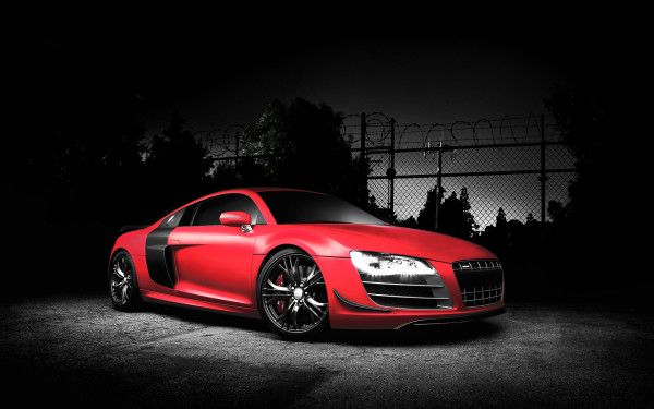 Audi R8 Red Wallpaper Voiture Rouge Photos
