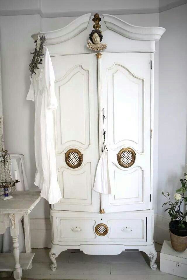white wood wardrobe armoire shabby chic bedroom. Thrift A Vintage Piece Of Furniture And Paint White ~ Armoire Wood Wardrobe Shabby Chic Bedroom I