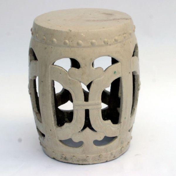 Cream Club Garden Stool – Greige Design
