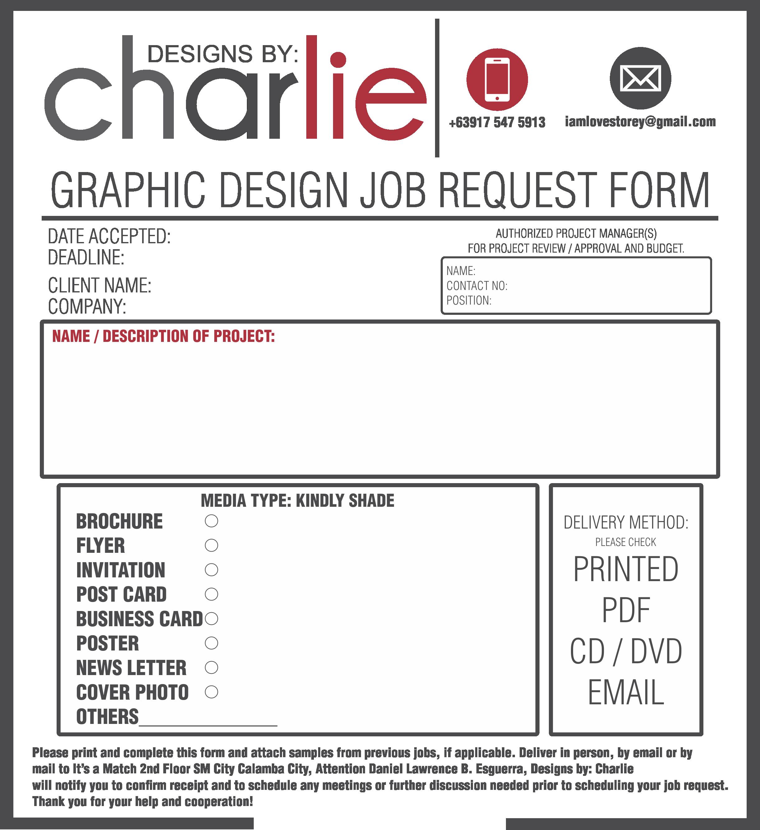 Poster design job description - Job Order Form