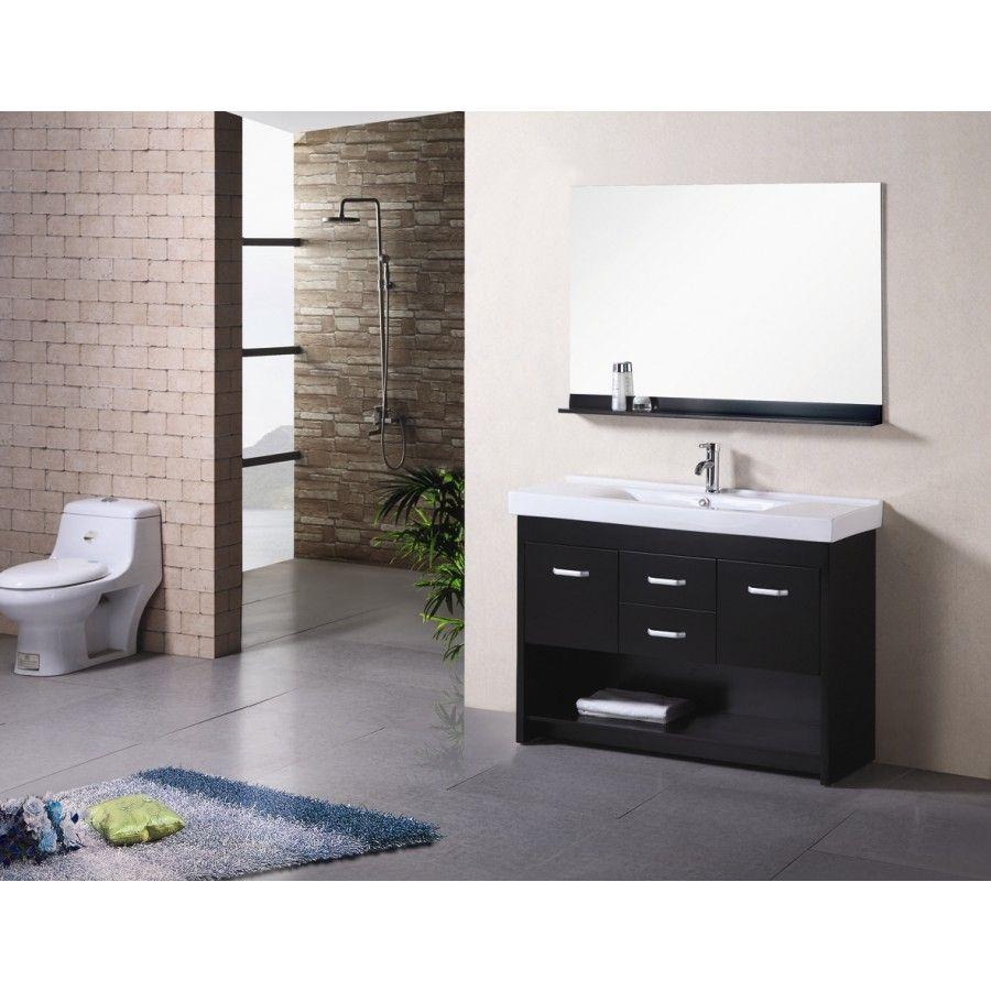 "Design Element Citrus 48"" Single Sink Vanity Set  Dec073  For Adorable Design Element Bathroom Vanity Design Ideas"