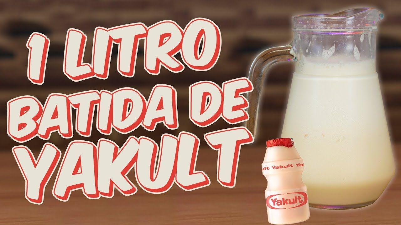 1 Litro De Batida De Yakult Receitas De Bebidas Receita De