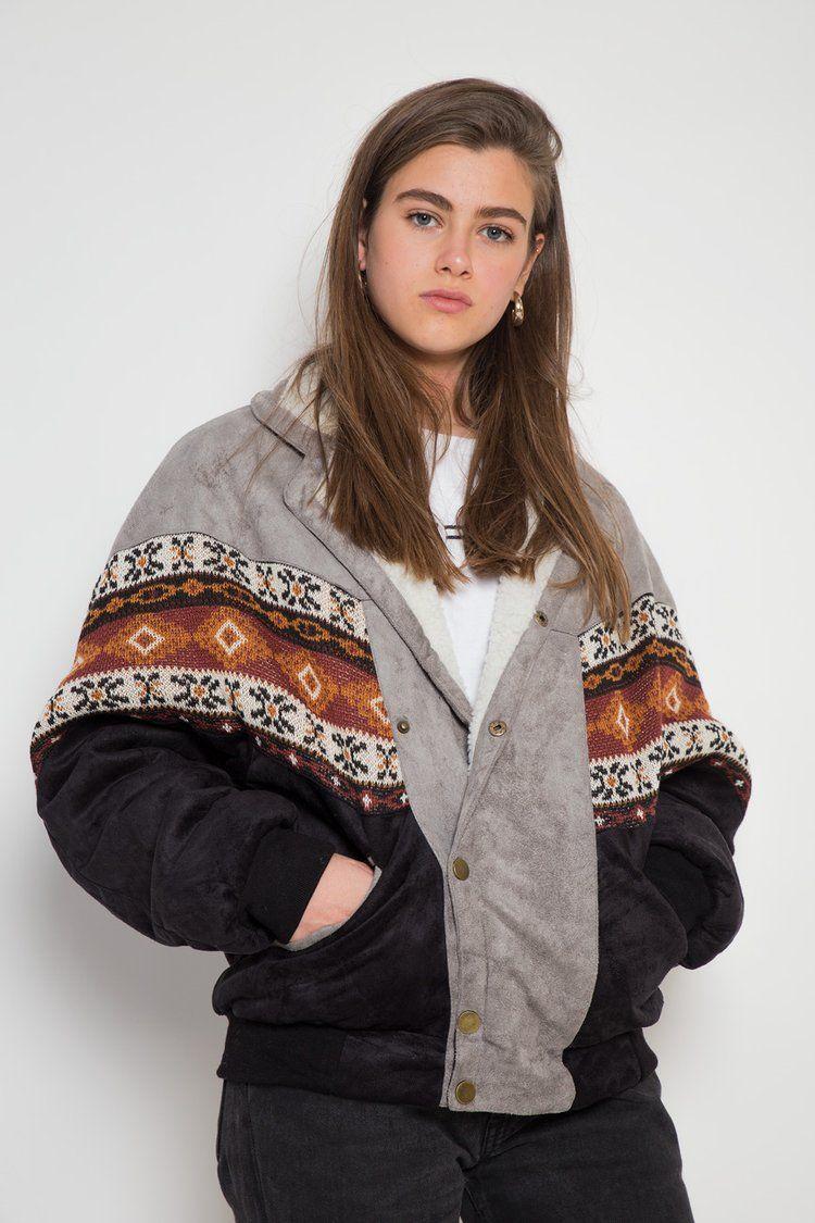Girl Coats Best Branded Vintage Clothing Navajo Bombers Arizona Vintage Light Denim Jacket Winter Outfits Vintage Outfits [ 1125 x 750 Pixel ]