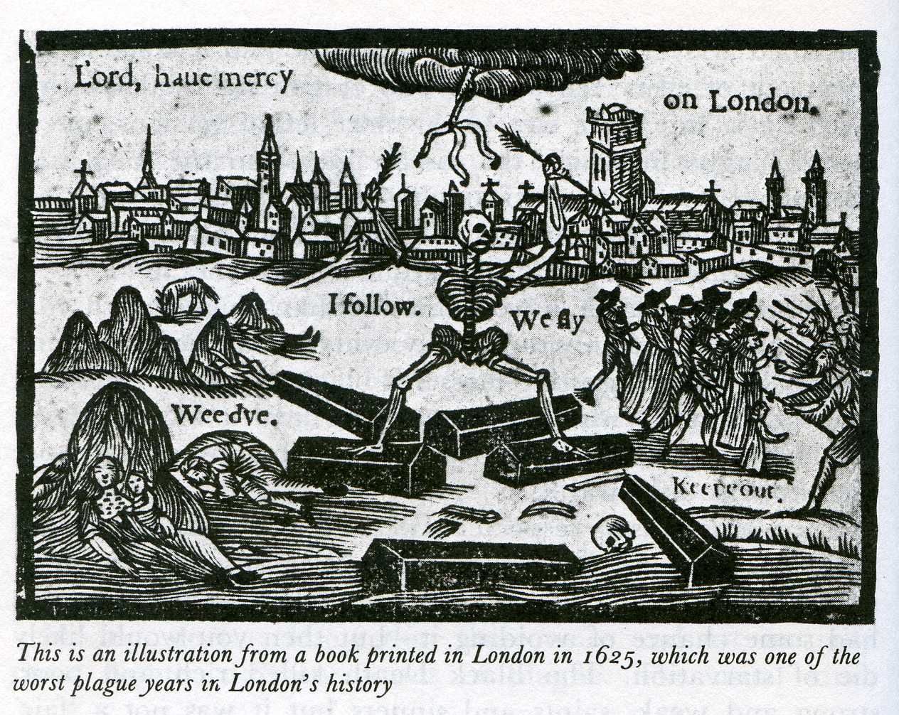 best images about the black death th century print in the plague year 1625 in london