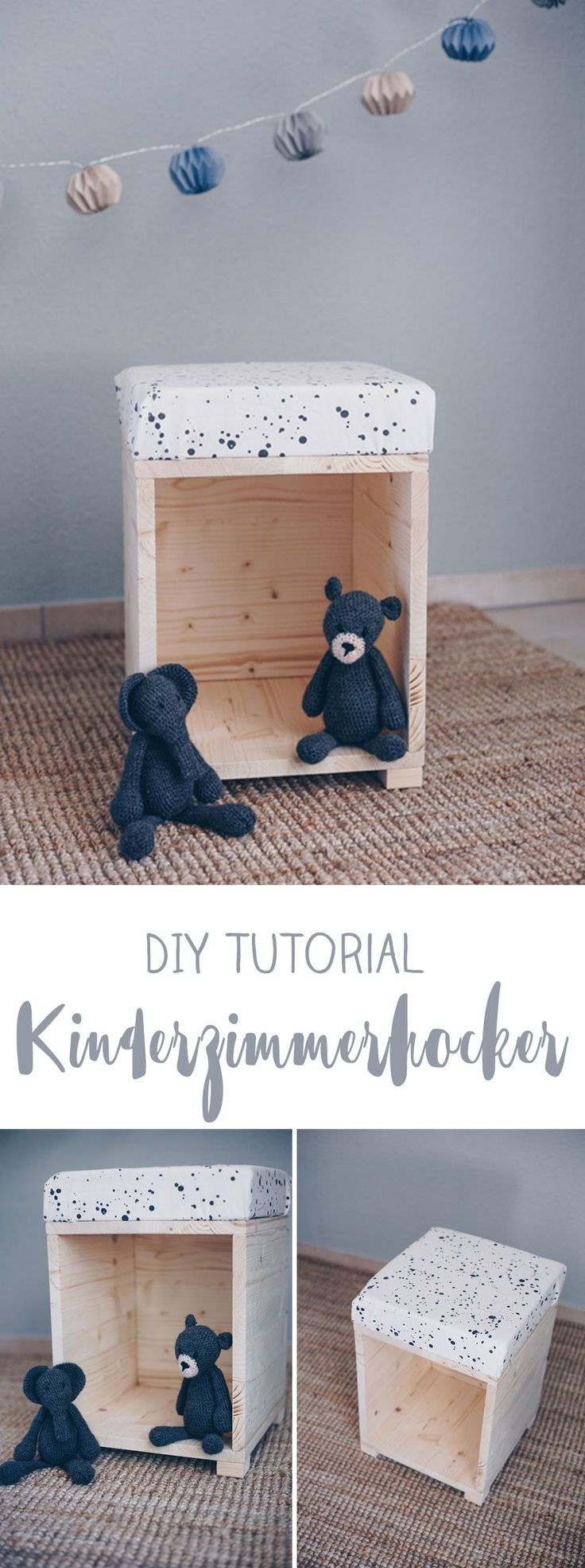 diy hocker f rs kinderzimmer zum spielen m bel selberbauen diy idee projects to try. Black Bedroom Furniture Sets. Home Design Ideas
