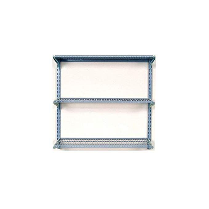 Storability Triton Products 1795 34 Inch Length By 32 Inch Height Wall Mount Shelving Unit With 3 Wire Shelves Wall Shelving Units Wire Shelving Shelving Unit