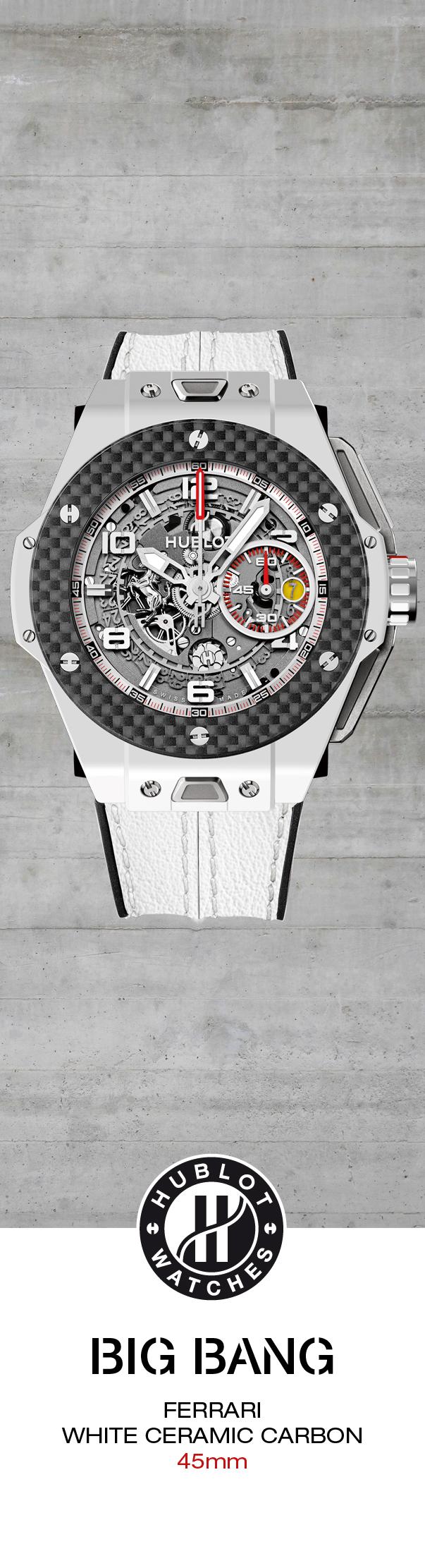 #Hublot Big Bang Ferrari White Ceramic Carbon - Limited Edition