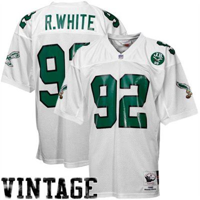 718243e5582 Mitchell   Ness Reggie White Philadelphia Eagles 1992 Authentic Throwback  Jersey - White