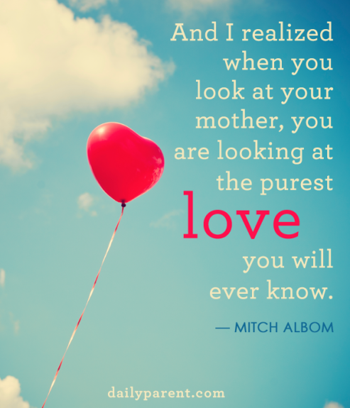 And I realized when you look at your mother, you are ...