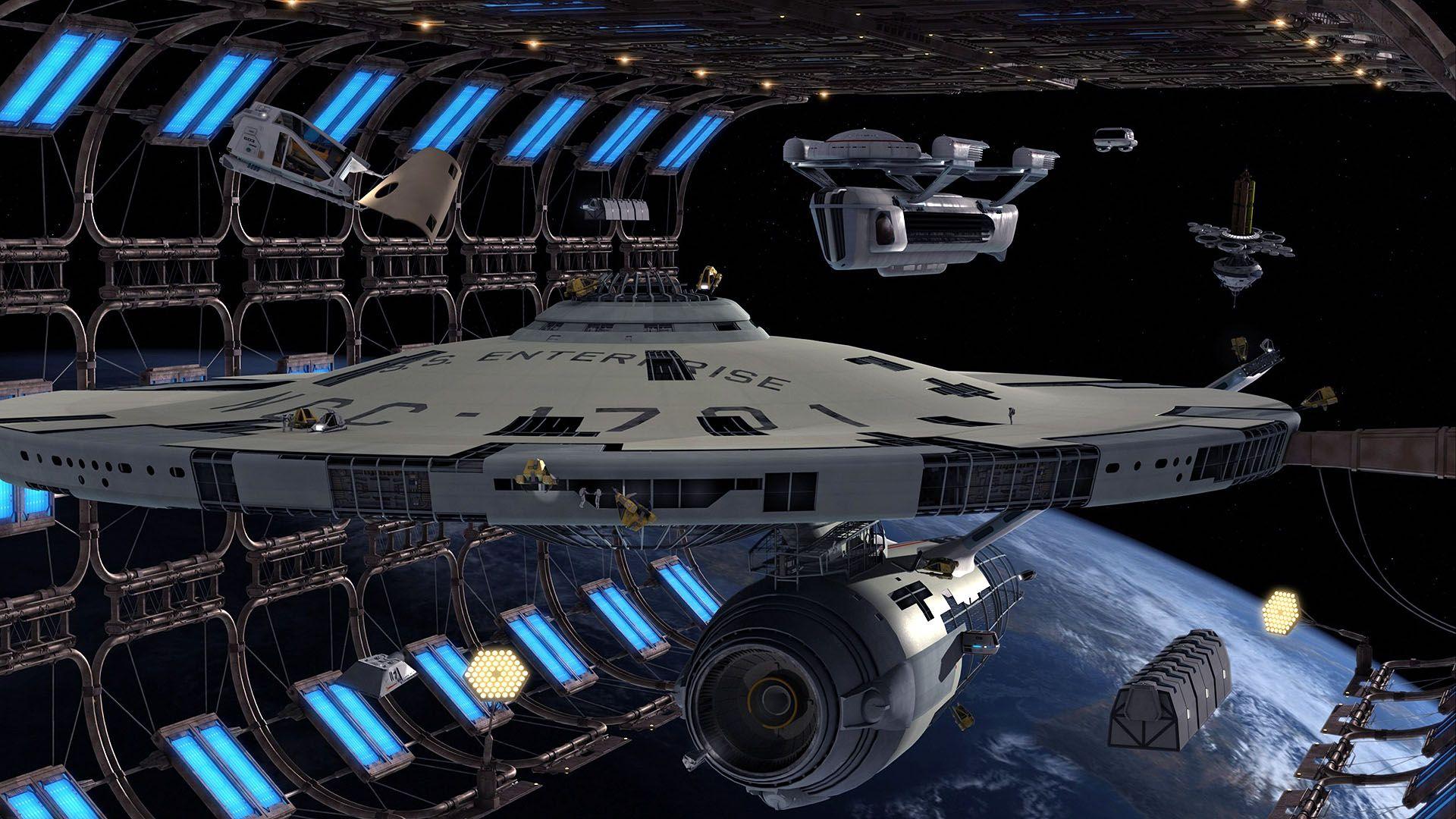 Warships 3d Art Star Trek Ships Vehicles Uss Enterprise Ship Refit Hd Wallpaper Of Star Trek Wallpaper Star Trek Ships Star Trek