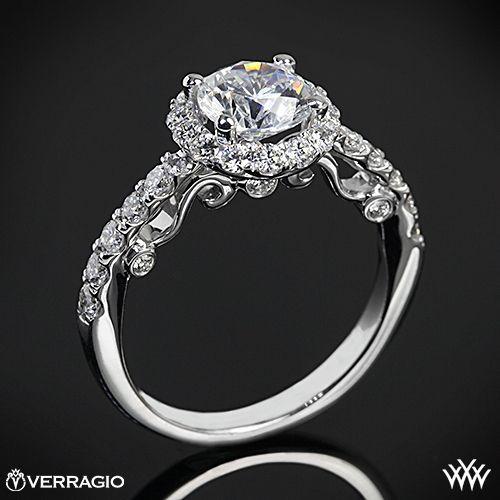 rose gold verragio half eternity halo diamond engagement ring my dream wedding ring - Verragio Wedding Rings