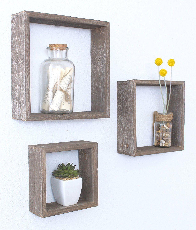 amazon com barnwoodusa rustic open box shelves 100 percent rh pinterest es