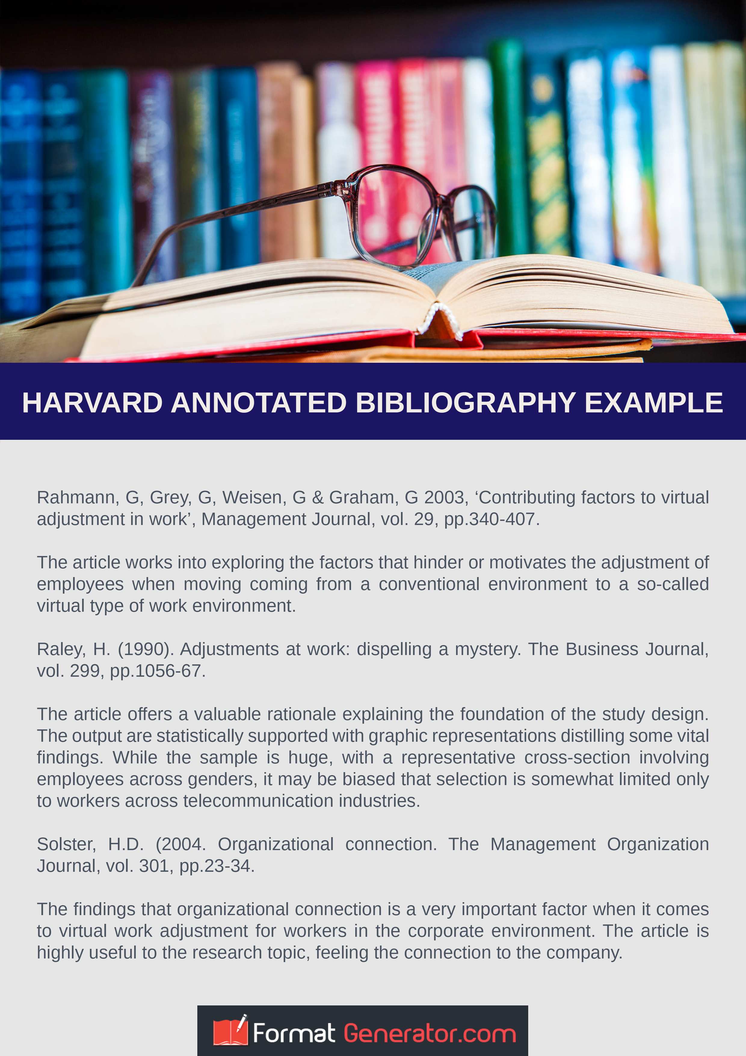 see this flawless harvard annotated bibliography example to make su