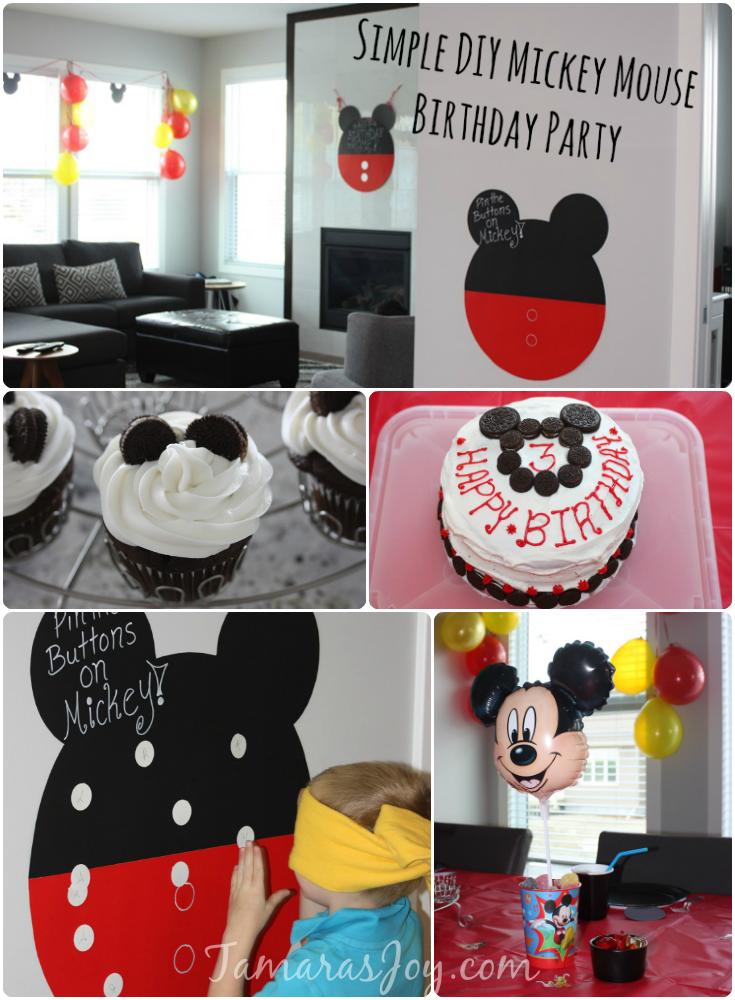 DIY Mickey Mouse Birthday Party Decor Tamaras Joy httpswww