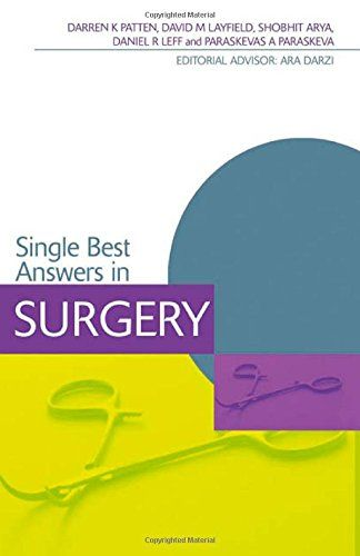 Single Best Answers in Surgery PDF | Surgery, Medical students and ...