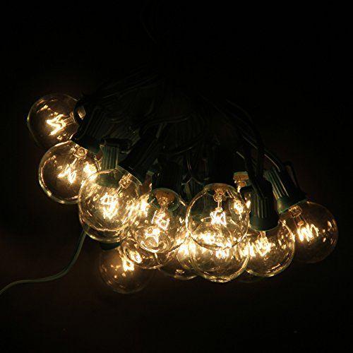 Signstek E12 G40 2*25FT 2*25 Light String Light for Christmas Outdoor Indoor Decoration Party, etc *Warm White* - http://www.fivedollarmarket.com/signstek-e12-g40-225ft-225-light-string-light-for-christmas-outdoor-indoor-decoration-party-etc-warm-white/