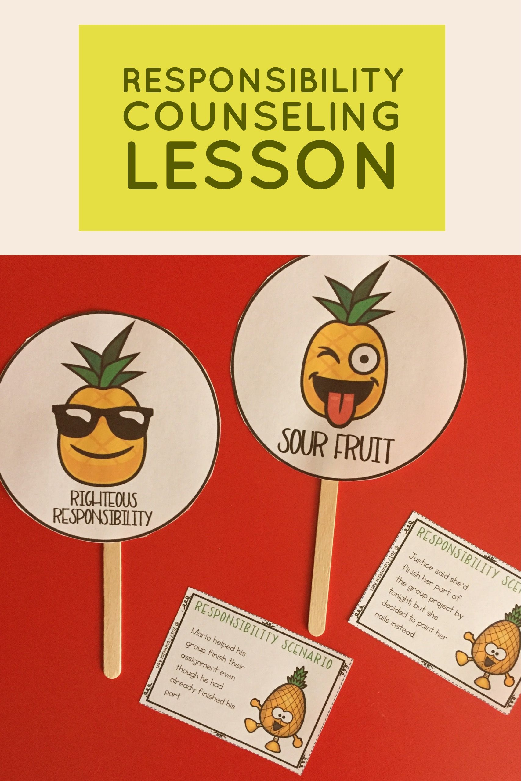 Responsibility Classroom Guidance Lesson For School