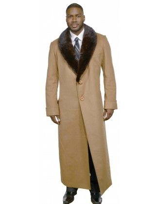 804a0cce96d1 Men s Cashmere Coat with Full Skin Mink Fur Collar