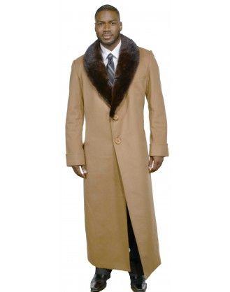 ba30659ba Men's Cashmere Coat with Full Skin Mink Fur Collar | ice in 2019 ...