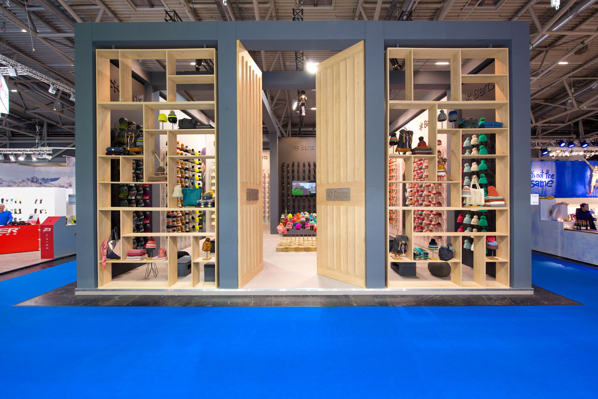 Exhibition Stand Builders In Munich : Stand from the inside stand building at ispo munich germany